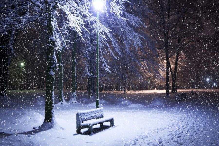 Nevada en la noche 79765 - Paisajes nevados para pintar ...