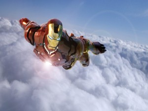 Iron Man volando