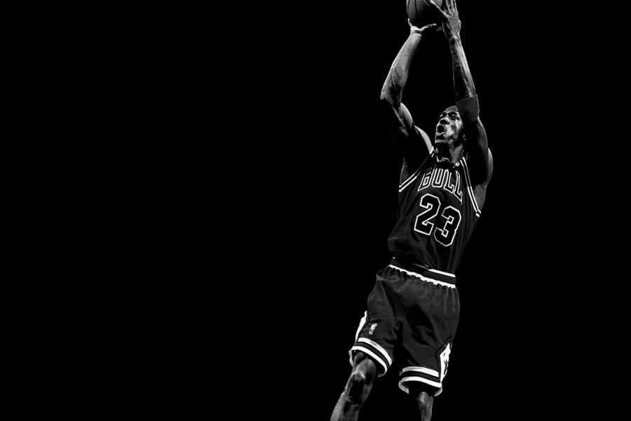 Michael Jordan en blanco y negro