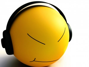 Smiley escuchando música