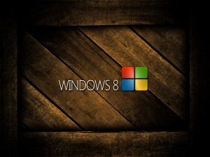 Windows 8 sobre madera