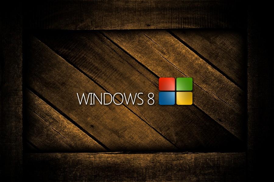 Windows 8 sobre madera