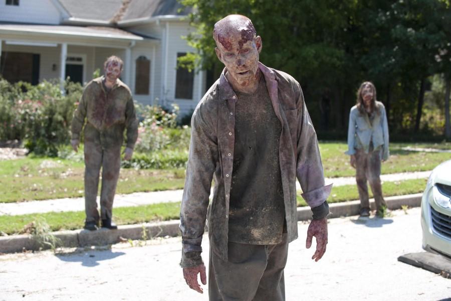 "Zombies caminando ""The Walking Dead"""