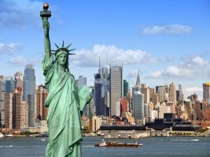 Vista de la Estatua de la Libertad y la ciudad de Nueva York