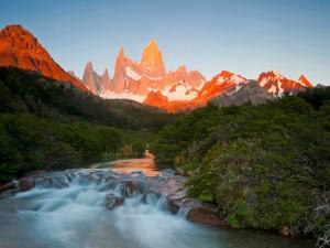 Montañas al amanecer