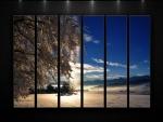 Contemplando un paisaje invernal