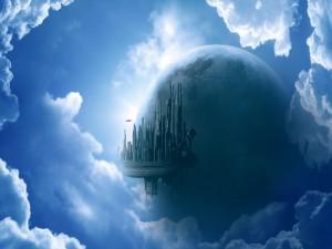 Ciudad entre las nubes