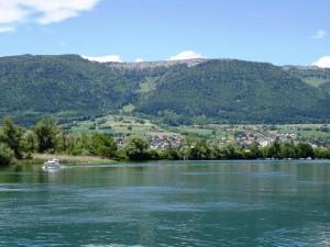 Navegando en un lago (Solothurn, Suiza)