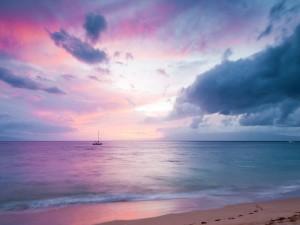 Crepúsculo en la playa