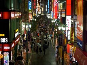 Calle estrecha en Japón