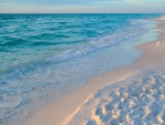 Espumosas olas que llegan a la playa