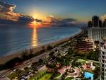 Puesta de sol en Río de Janeiro