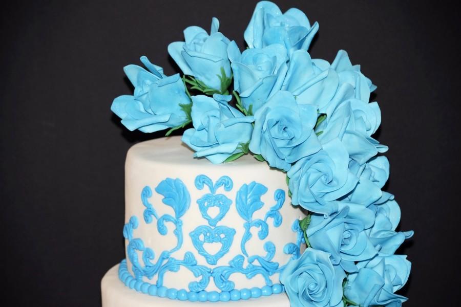 Vistosa y delicada torta de boda