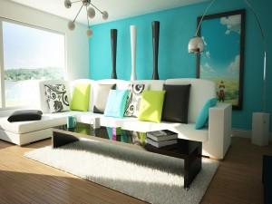 Excelente sala de estar iluminada