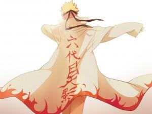 Naruto Uzumaki con una capa