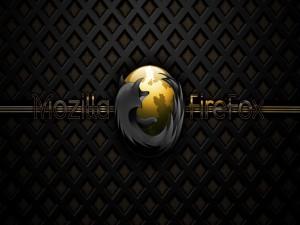 Logo dorado de Mozilla Firefox