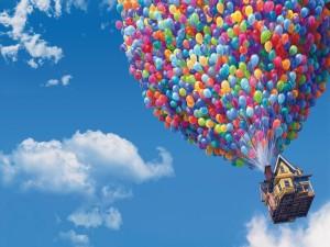 """La casa de """"Up"""" volando por los cielos"""