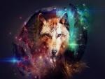 Imagen de un lobo en 3D