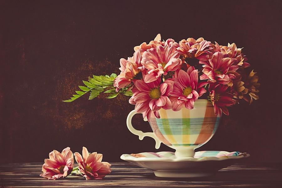 Crisantemos en un florero (pintura)