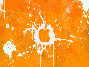 Logo de Apple en color naranja