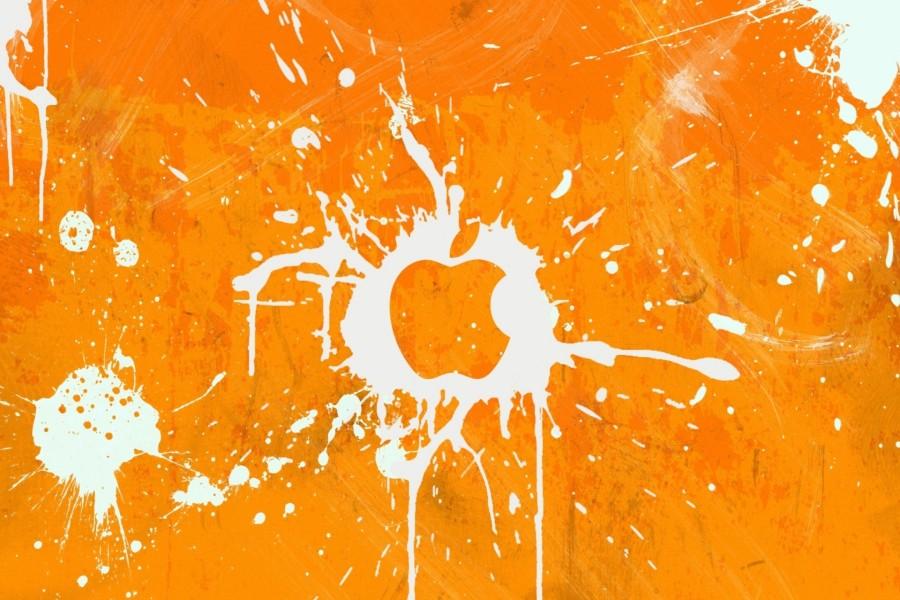 Logo de Apple en color naranja