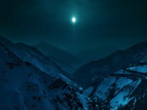 Interesante noche en las montañas