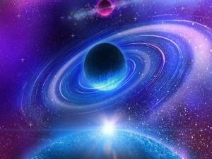 Planeta con sus anillos