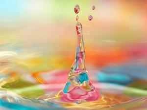 Gota de agua multicolor