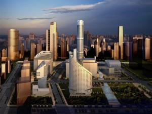 Arquitectura moderna de la ciudad