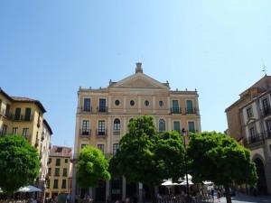 Teatro Juan Bravo, en la Plaza Mayor de Segovia