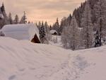 Gran nevada en el poblado