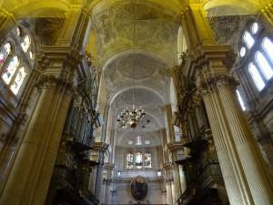 Interior de la Catedral de Málaga (España)