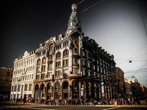 La famosa Avenida Nevski, en pleno centro de San Petersburgo