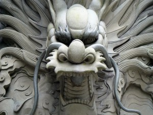 Estatua del dragón chino