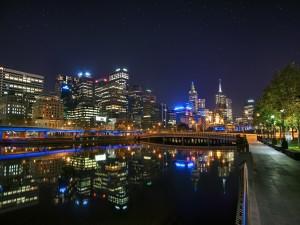 La noche en Melbourne (Australia)