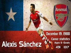 El jugador del Arsenal, Alexis Sánchez