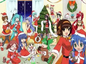 Chicas anime en Navidad