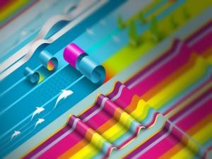 Tiras y ondas de colores