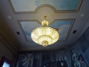 Lámpara de techo. Palacio de la Diputación Provincial de Ciudad Real, España.