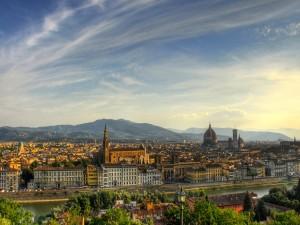 Vista panorámica de Florencia