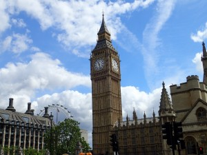 Big Ben en el Palacio de Westminster (Londres)