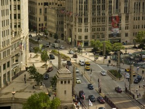 Una calle de Chicago