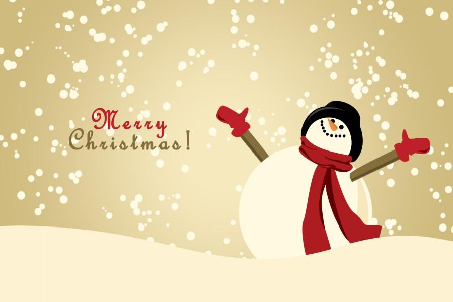 Muñeco de nieve te desea Feliz Navidad