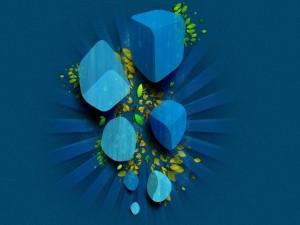 Cubos azules