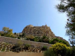 Castillo de Santa Bárbara en Alicante, España