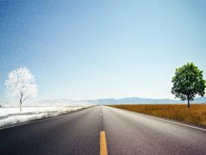 Invierno y verano en la carretera
