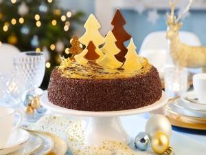 Torta decorada para las fiestas navideñas