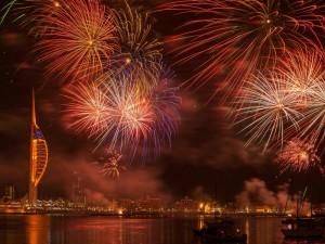 Festejos con fuegos artificiales