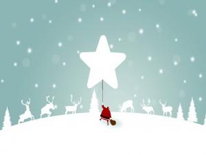 Santa Claus con renos