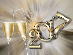 Brindis por la llegada del año 2017